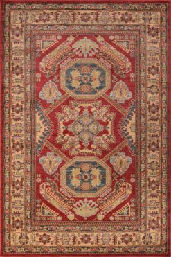 Ghazni GZ-02 RED Area Rug
