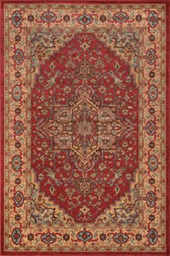 Ghazni GZ-04 RED Area Rug